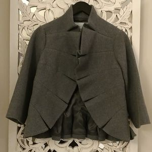 Tabitha Wool Ruffle Jacket